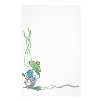 Grenouille stationnaire animale d amants d animal papier à lettre personnalisé
