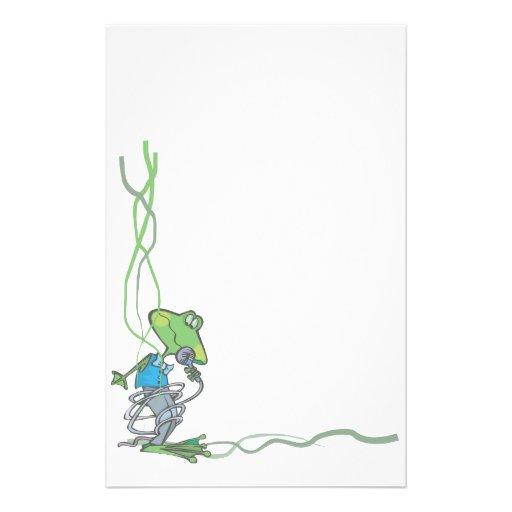 Grenouille stationnaire animale d'amants d'animal  papier à lettre personnalisé