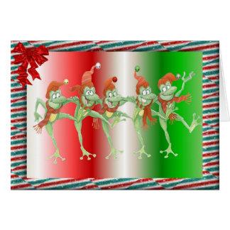 Grenouilles de Noël Carte De Vœux