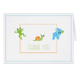 Grenouilles, escargots et carte de remerciements