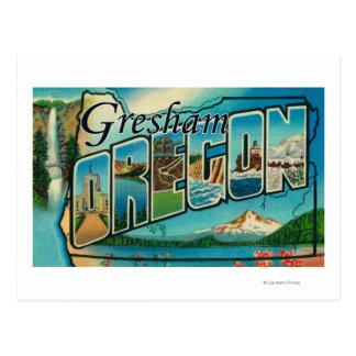 Gresham, Oregon - Large Letter Scenes Postcard