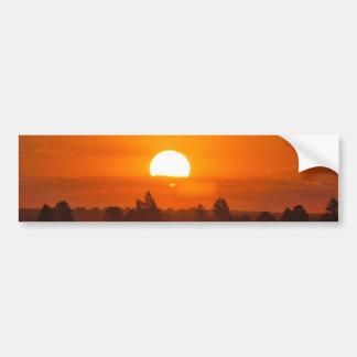 Grésillement du coucher du soleil autocollant de voiture