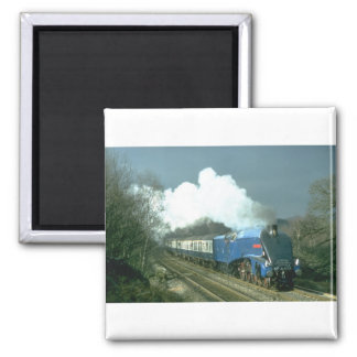 Gresley A4 Sir Nigel Gresley works the Cumbrian Mo Square Magnet