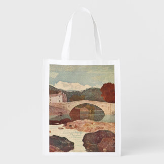 Greta Bridge, Pennine Hills, England Reusable Grocery Bag