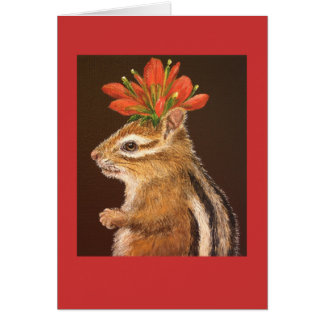 Greta the chipmunk card