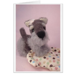 Greta the Schnauzer Card