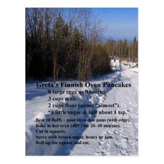 Greta's Finnish Oven Pancakes Recipe Postcard