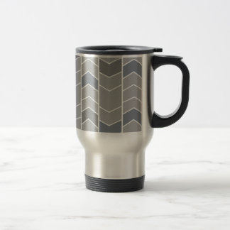 Greu Chevron Stripes Pattern Travel Mug