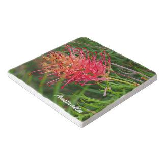 Grevillea flower stone trivet