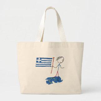 Grexit Large Tote Bag