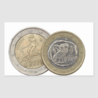 Grexit: soon to be rare greek euro coins sticker