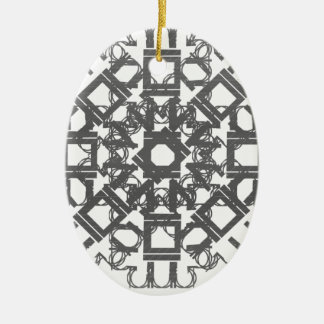 Grey 101STAR Ceramic Oval Ornament