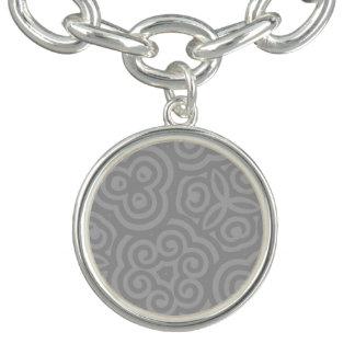 Grey Abstract Pattern Bracelets