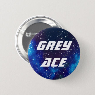 Grey Ace Customizable Galaxy Identity 2 Inch Round Button