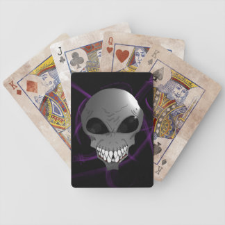 Grey alien Bicycle® Poker Playing Cards