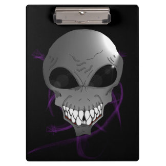 Grey alien Clipboard