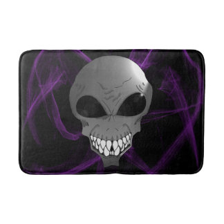 Grey alien Custom Medium Bath Mat