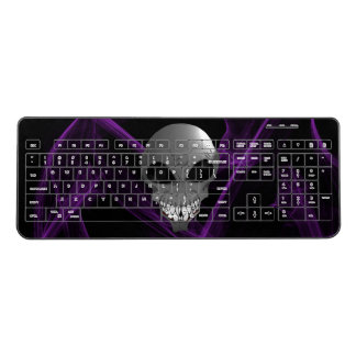 Grey alien Custom Wireless Keyboard