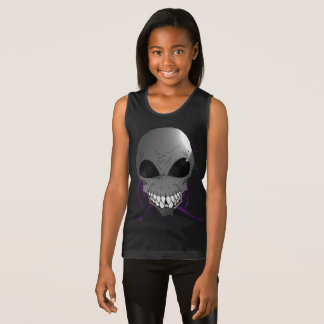 Grey alien Girls' Fine Jersey Tank Top