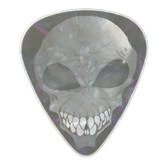 Grey alien Guitar pic Pearl Celluloid Guitar Pick