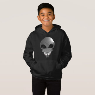 Grey alien Kids' Fleece Pullover Hoodie