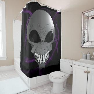 Grey alien Shower Curtain