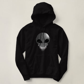 Grey alien Women's Basic Hooded Sweatshirt