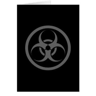 Grey and Black Bio Hazard Circle Card