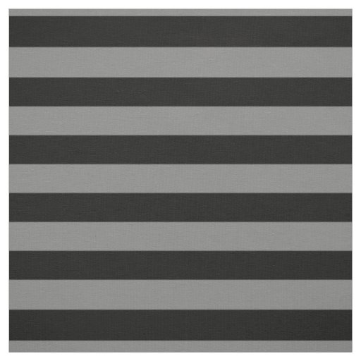 Grey and Black Bold Stripes, Halloween Fabric