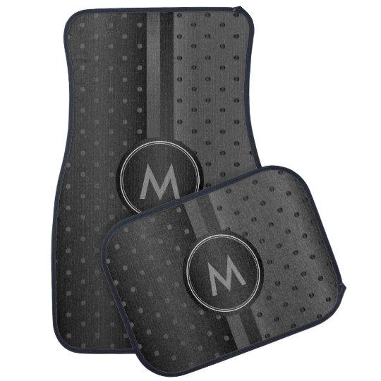Grey and Black Polka Dots Floor Mat