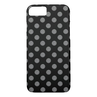 Grey and black polka dots iPhone 8/7 case