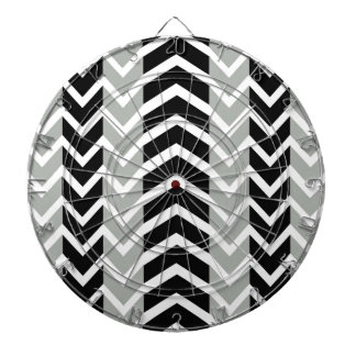 Grey and Black Whale Chevron Dartboard