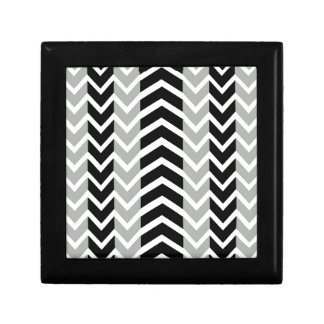 Grey and Black Whale Chevron Gift Box