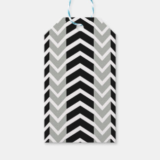 Grey and Black Whale Chevron Gift Tags