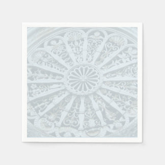 Grey and Blue Architectural Detail Napkin Disposable Napkin