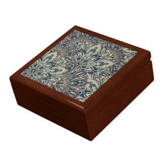 Grey and blue mandala pattern gift box