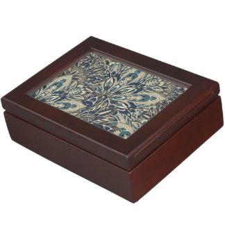 Grey and blue mandala pattern keepsake box