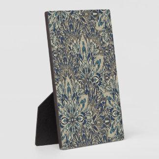Grey and blue mandala pattern. plaque