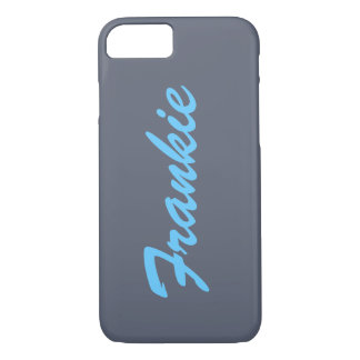 Grey and Blue Name Monogram iPhone 7 case