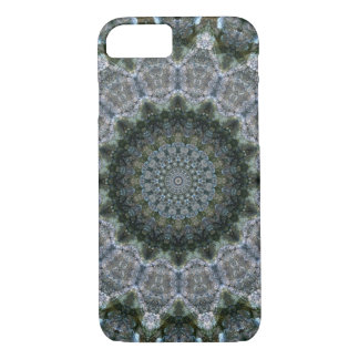 "Grey and Blue ""Rocky Point"" Mandala Kaleidoscope Case-Mate iPhone Case"