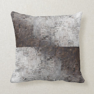 Grey and Brown Space Abstract Throw Pillow