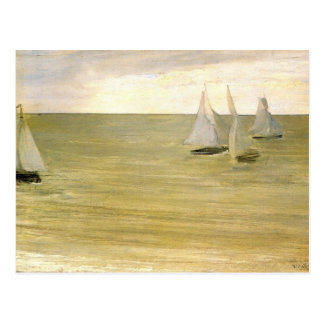 Grey and green the silver sea by Whistler Postcard