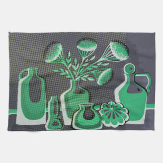 Grey and grey home kitchen themed design for cafe kitchen towel