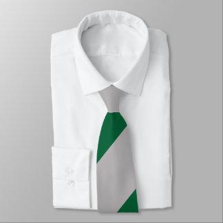 Grey and Ivy Broad Regimental Stripe Tie