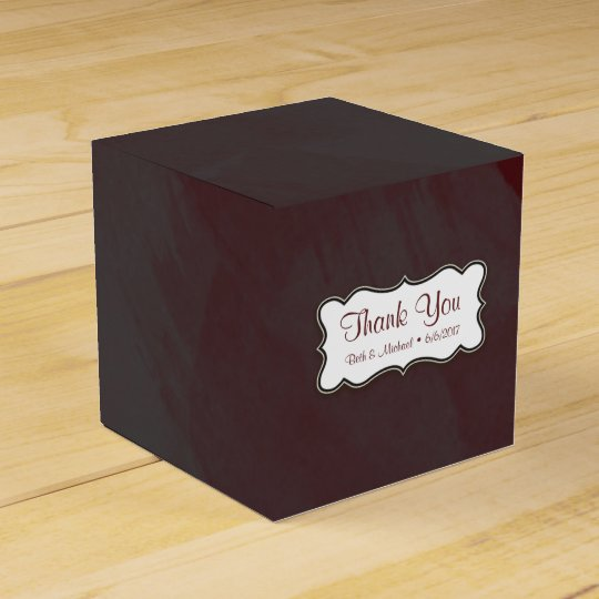Grey and Maroon Thank You Gift Box