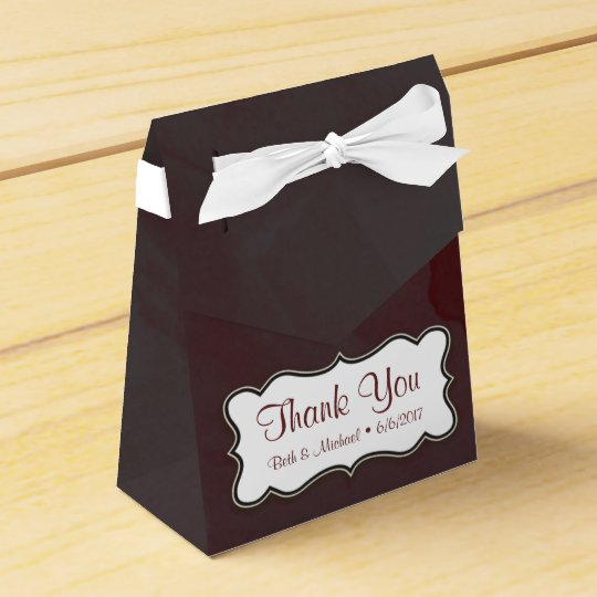 Grey and Maroon Thank You Tent Gift Box