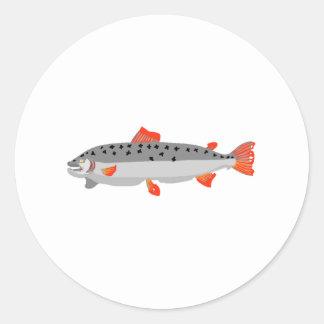 Grey And Orange Fish Sticker