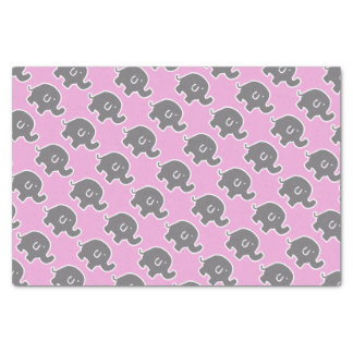 Grey And Pink Elephant Baby Shower Gift Tissue Tissue Paper