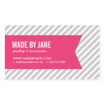 Grey and Pink Modern Stripes Social Media Pack Of Standard Business Cards