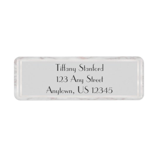 Grey and Rose Gold Marbled | Personalized Return Address Label